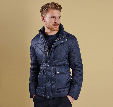 Barbour MQU0702NY91 Bowfell Quilted Jacket Navy