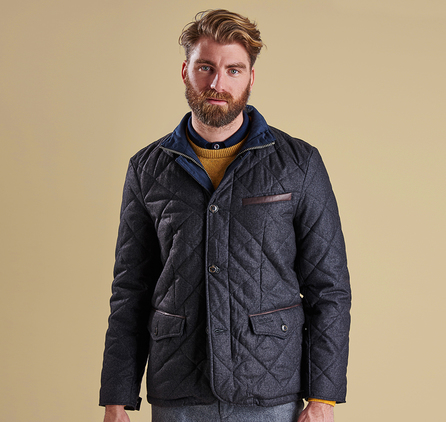 Barbour MQU0709CH71 Filey Quilted Jacket Dark Charcoal