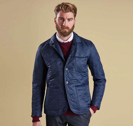 Barbour MQU0708NY91 Racer Quilted Jacket Navy