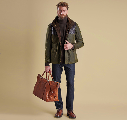 Barbour MWX0923OL71 Traveller Wax Jacket Olive