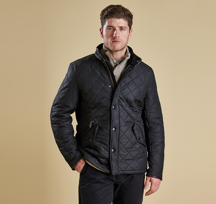 Barbour MQU0281BK11 Powell Quilted Jacket Black