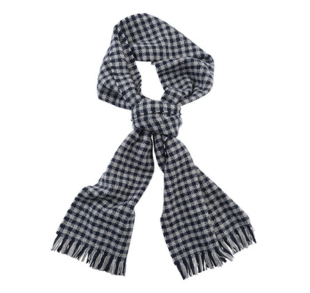 Barbour USC0141NY11 Hopsack Check Scarf Navy/Oyster Grey