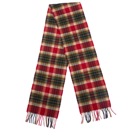 Barbour USC0161RE31 Duxford Plaid Scarf Red/Green Plaid