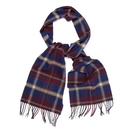 Barbour USC0160NY31 Hardwick Plaid Scarf Navy Check