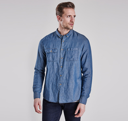 Barbour MSH3534IN32 Lewis Shirt Indigo