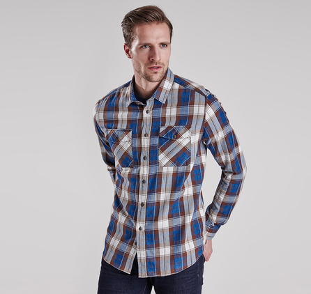 Barbour MSH3586IN32 Stanley Shirt Indigo