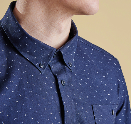 Barbour MSH3578NY94 Arrow Print Slim Fit Shirt