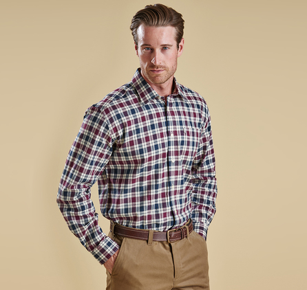 Barbour MSH2469RE91 Astwell Shirt Merlot