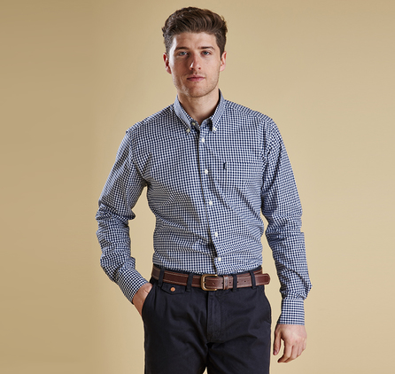 Barbour MSH3224NY91 Country Gingham Shirt Navy
