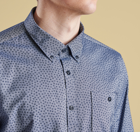 Barbour MSH3558IN32 Star Print Slim Fit Shirt