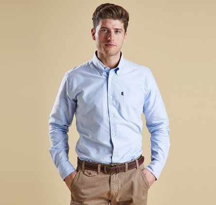 Barbour MSH3230BL36 The Oxford Shirt Sky Blue
