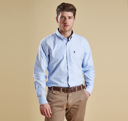 Barbour MSH3302BL36 The Oxford Shirt Sky Blue