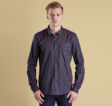 Barbour MSH3560NY94 Micro Paisley Slim Fit Shirt