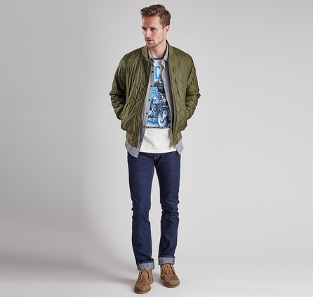 Barbour MTS0128BE13 Everett Tee Neutral