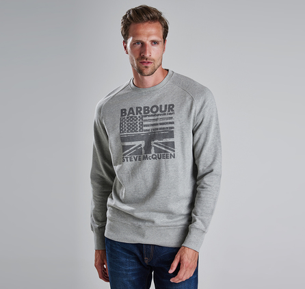 Barbour MML0513GY52 Flags Crew Sweater Grey Marl
