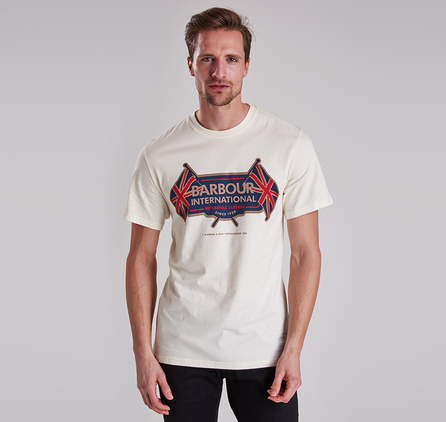 Barbour MTS0119BE13 Flags Tee Neutral