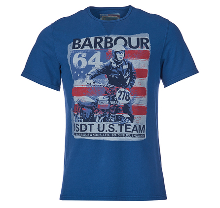 Barbour MTS0130BL54 Randall Tee Mid Blue