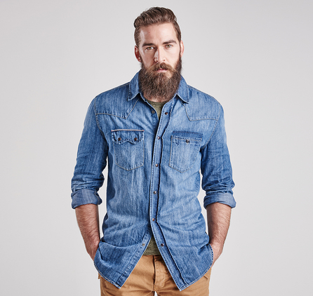 Barbour MSH3579NY16 Apex Shirt Stone Wash