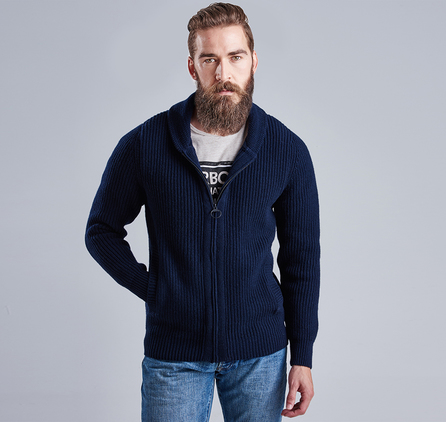 Barbour MKN0876NY91 Brake Zip Through Cardigan