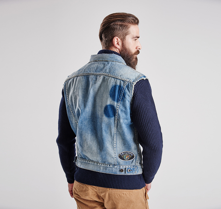 Barbour MCA0329NY92 Rider Sleeveless Denim Jacket