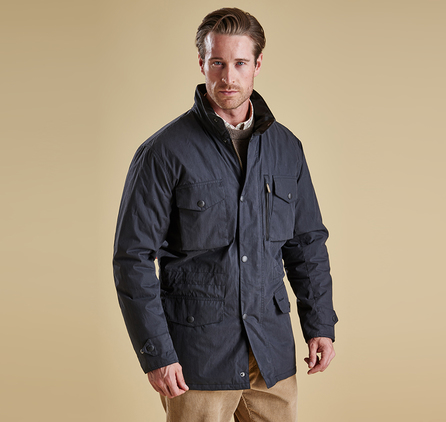 Barbour MWB0448BK11 Sapper Waterproof Jacket Black