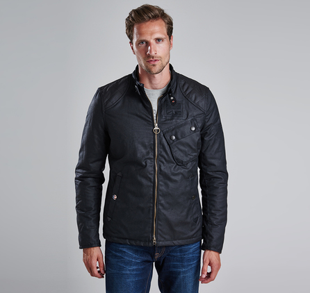 Barbour MWX0707BK51 Bonner Waxed Jacket Black