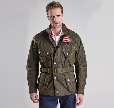 Barbour MWX0891OL71 Escape Wax Jacket Olive