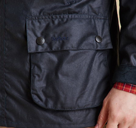 Barbour MWX0339NY92 Ashby Waxed Jacket Navy