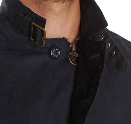 Barbour MWX0566NY51 Lutz Waxed Jacket Navy