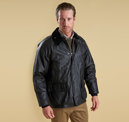 Barbour MWX0018BK91 Bedale Waxed Jacket Black