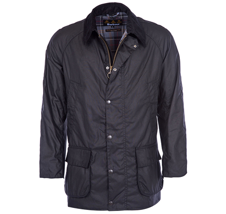Barbour MWX0086BK71 Bristol Waxed Jacket Black