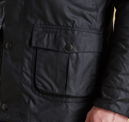Barbour MWX0340BK91 Corbridge Waxed Jacket Black