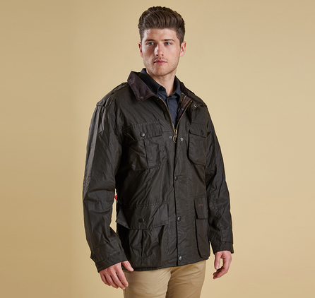 Barbour MWX0019OL71 Trooper Waxed Jacket Olive
