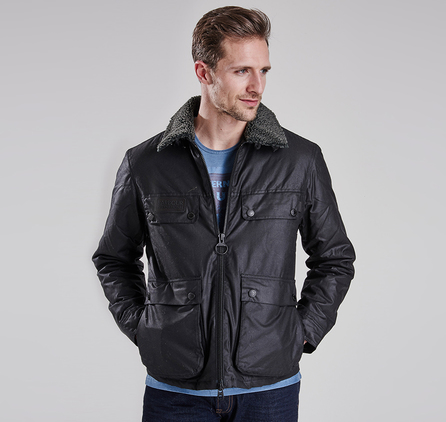 Barbour MWX0930BK71 Binder Slim Fit Wax Jacket