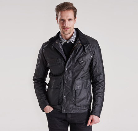 Barbour MWX0929BK71 Crank Slim Slim Fit Wax Jacket
