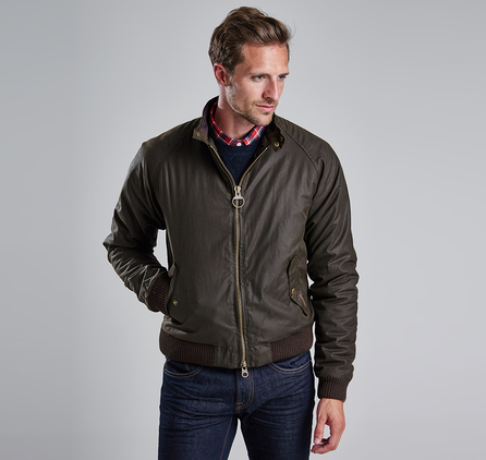 Barbour MWX0465OL71 Merchant Waxed Jacket Olive