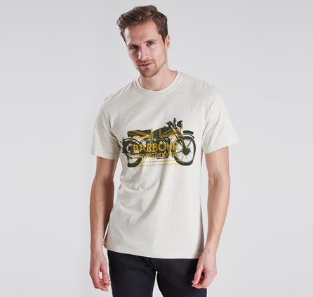 Barbour MTS0122BE53 Legend Tee Neutral Marl