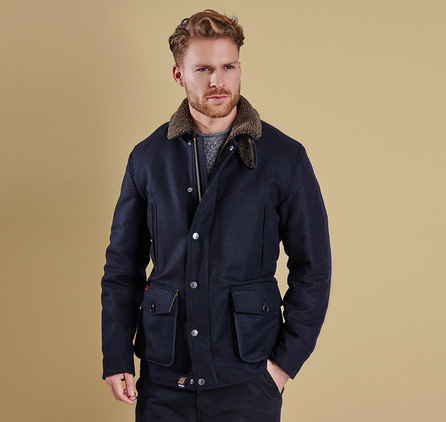 Barbour MWO0207NY71 Arden Wool Jacket Navy