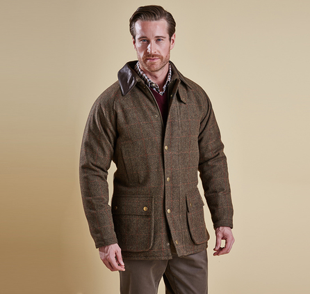 Barbour MWO0210GN71 Tweed Gamefair Jacket Olive