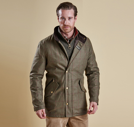 Barbour MWO0211GN52 Tweed Prestbury Jacket Green