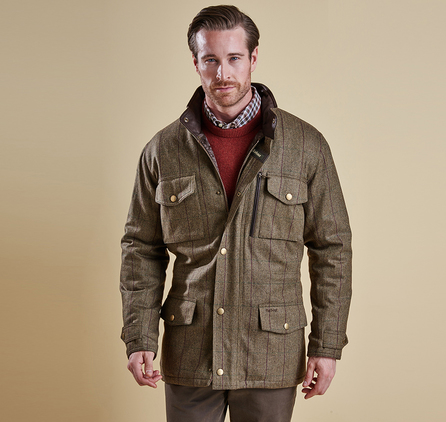 Barbour MWO0209BR31 Tweed Sapper Jacket Camel