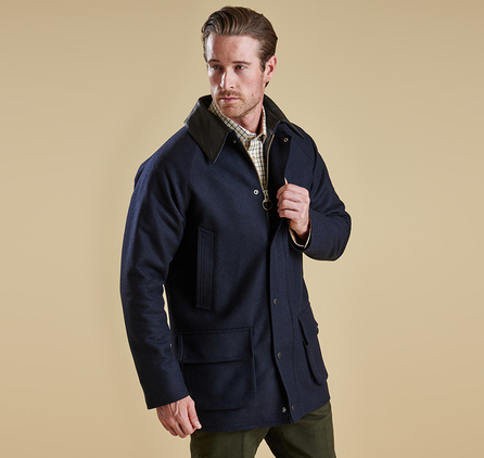 Barbour MWO0182NY71 Wool Gamefair Jacket Navy