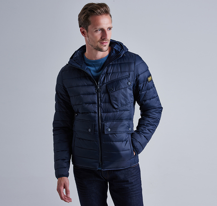 Barbour MQU0712NY91 Ouston Hooded Slim Quilted Jacket