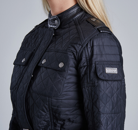 Barbour LQU0671BK11 Vanier Belted Quilted Jacket