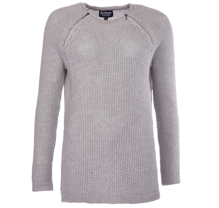 Barbour LKN0529GY51 Worldcrosser Knit Jumper Light Grey Marl