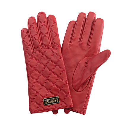 Barbour LGL0031RE31 Burton Leather Glove Chilli Red