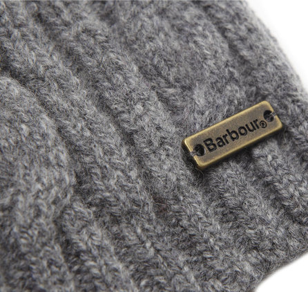 Barbour LHA0187GY11 Blaydon Cable Beanie Grey Melan