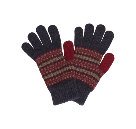 Barbour LGL0021IN91 Rawfoot Lambswool Glove Indigo Mix