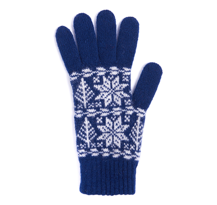 Barbour LGL0040IN51 Artic Fairisle Glove Indigo