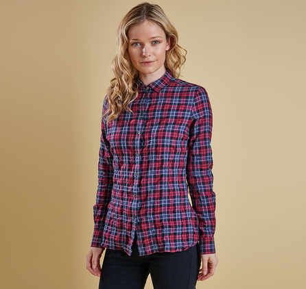Barbour LSH0909RE53 Barlett Check Shirt Red/Navy Check